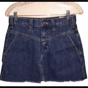 Free People Sidecar Denim Miniskirt Size 25 NWT